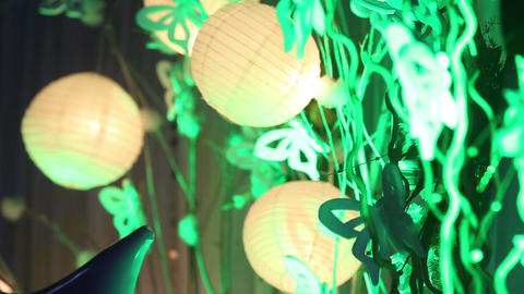 Chinese Lanterns On Wedding stock footage