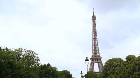 Eiffel Tower Tracking Shot stock footage