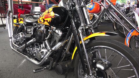 Harley Davidson bike. 4K Stock Video Footage