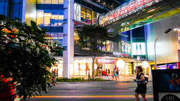 4k Ultra HD time lapse video on Orchard Road, Sing Footage