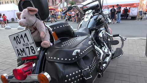 Harley Davidson bike. 4K Footage