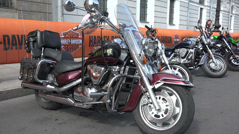 Harley Davidson bike. 4K Stock Video Footage