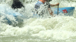 wildwater canoeing man double slow motion 42 Footage
