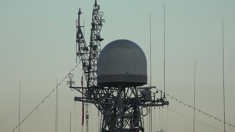Antennas warship. 4K Footage