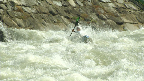 wildwater canoeing woman slow motion 05 Footage