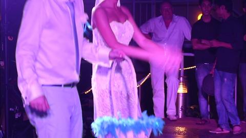 bride and groom dancing Footage