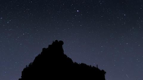 4k UHD milky way stars mountain silhouette 11468 Footage