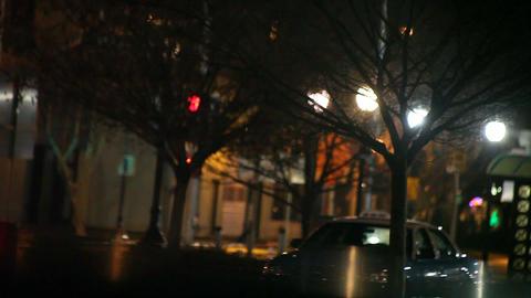 night street scene Footage
