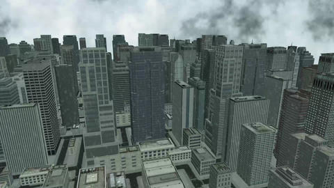3D City View Video Animation stock footage