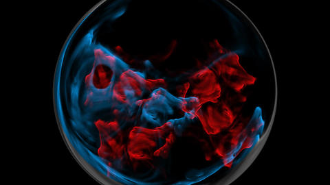Blue and Red Plasma Explosion Stock Video Footage