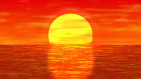 Sun Set over the Ocean Animation