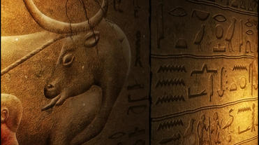 Egyptian Mural stock footage
