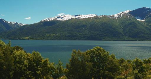 4K, Sognefjord Pan, Norway Footage