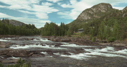 4K, Torpovegen River, Norway Footage