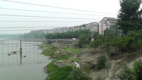 Jintang Town Chengdu Area Sichuan China 26 handhel Stock Video Footage