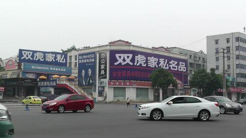 Jintang Town Chengdu Area Sichuan China 12 street Stock Video Footage
