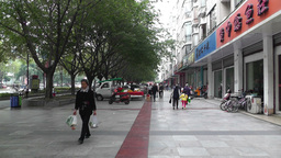 Jintang Town Chengdu Area Sichuan China 19 street Stock Video Footage