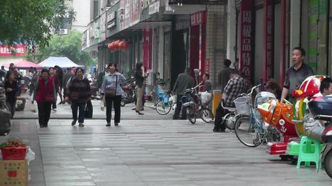 Jintang Town Chengdu Area Sichuan China 21 street  Footage