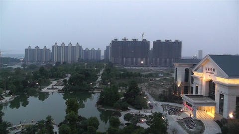 Jintang Town Chengdu Area Sichuan China 1 getting Stock Video Footage