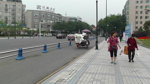 Jintang Town Chengdu Area Sichuan China 9 street h Footage