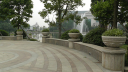 European Style Park Fountain in Sichuan China 6 Footage