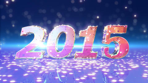 New Year 2015 Animation stock footage