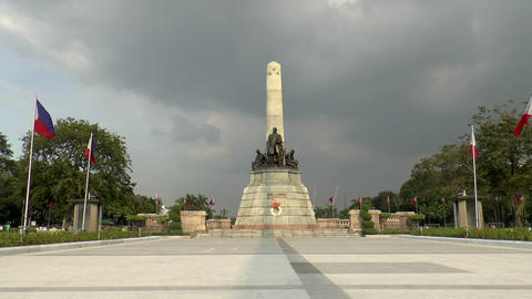 jose rizal monument Stock Video Footage