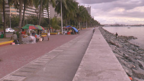 manila bay baywalk time lapse Footage