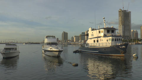 manila bay scene Stock Video Footage