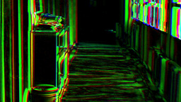 Lsd Hallucinogens Effect Pov Corridor stock footage