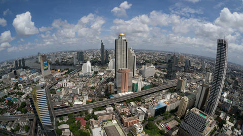 Bangkok Time Lapse (fisheye) Highway Traffic, Skyl ビデオ