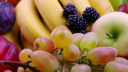 Berries And Fruits. Close-Up stock footage