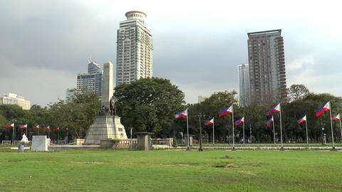rizal park Stock Video Footage