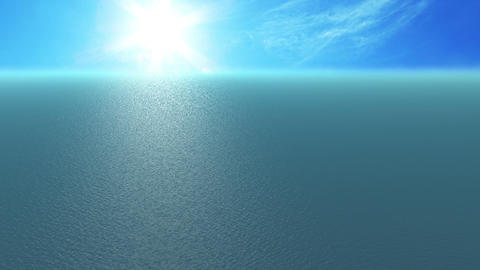 Animation, 500 metre high angle sea view, sunny da Animation