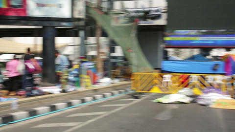 BANGKOK, THAILAND - FEBRUARY 2014: Bangkok shutdow Stock Video Footage