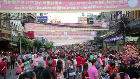 BANGKOK, THAILAND - FEBRUARY 2014: chinese new yea Footage