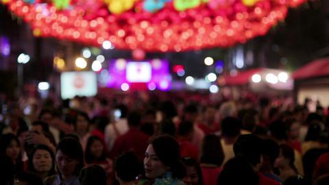 BANGKOK, THAILAND - FEBRUARY 2014: chinese new yea Stock Video Footage