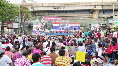 BANGKOK, THAILAND - FEBRUARY 2014: Bangkok shutdow Stock Video Footage