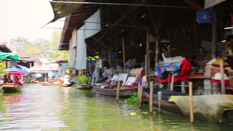BANGKOK, THAILAND - FEBRUARY 2014: people at float Stock Video Footage