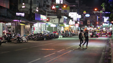 PATTAYA, THAILAND - FEBRUARY 2014: Nightlife with Footage