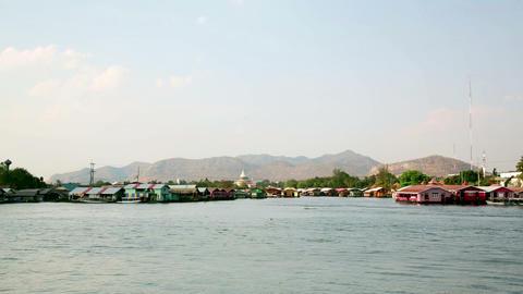 kanchanaburi city vew, thailand Footage