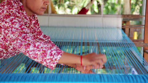 Silk Farm, clothes produce from silkworm insects c Footage