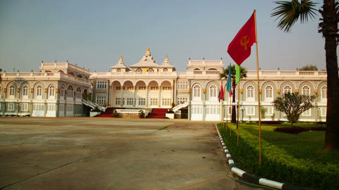 Vientiane Laos, Presidential Building Stock Video Footage