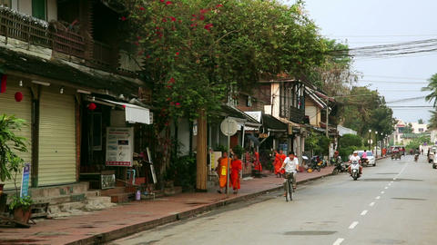LUANG PRABANG, LAOS - APRIL 2014: easy going relax Footage
