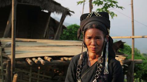 PONGSALI, LAOS - APRIL 2014: indigenous tribal nat Stock Video Footage
