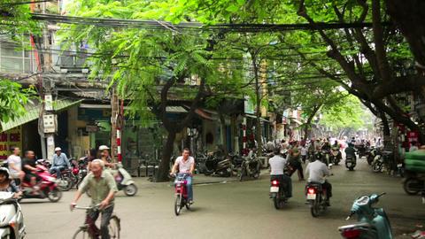 HANOI, VIETNAM - MAY 2014: everyday life on street Footage