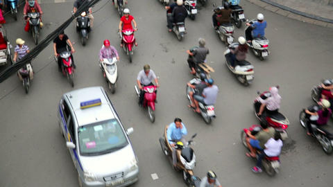HANOI, VIETNAM - MAY 2014: crazy motorbike traffic Footage