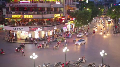 HANOI, VIETNAM - MAY 2014: crazy motorbike traffic Footage
