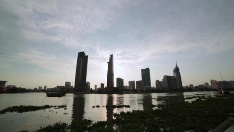 Ho Chi Minh City, Saigon downtown, Vietnam Stock Video Footage
