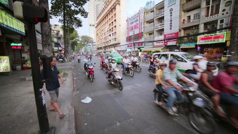 SAIGON, VIETNAM - MAY 2014: crazy motorbike traffi Footage